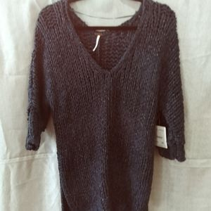 Free People blue oversized sweater NWT size S